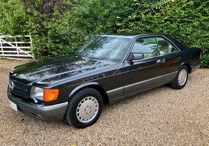 1989/F Mercedes 500SEC C126 coupe. FSH. 560SEC 420 SEC SEC