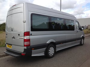 Mercedes Sprinter Minibus 313 LWB 2010 A/C 1 Owner Webasto 9 For Sale
