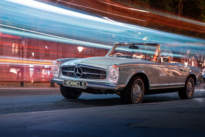 1969 Mercedes-Benz 280 SL Pagoda in Horizon Blue by Hemmels