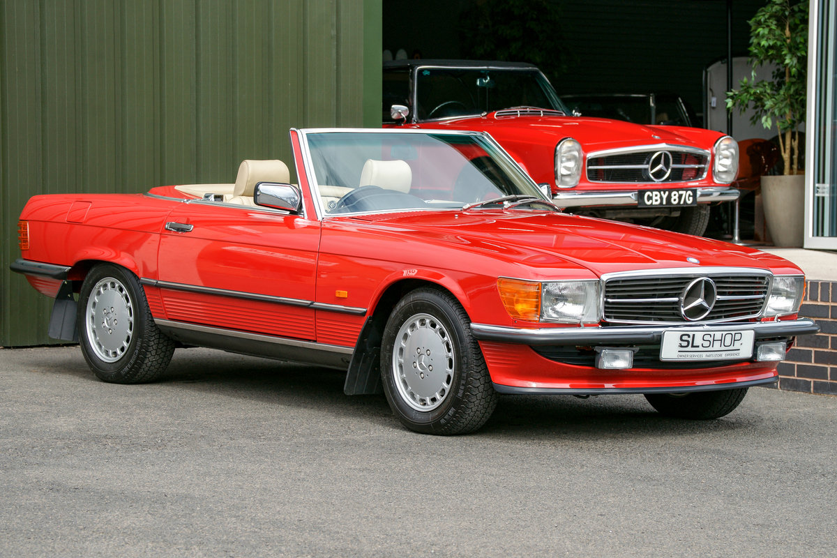 1989 Mercedes-Benz 420SL (R107) #2105 Just 1,500 Miles For Sale (picture 1 of 6)