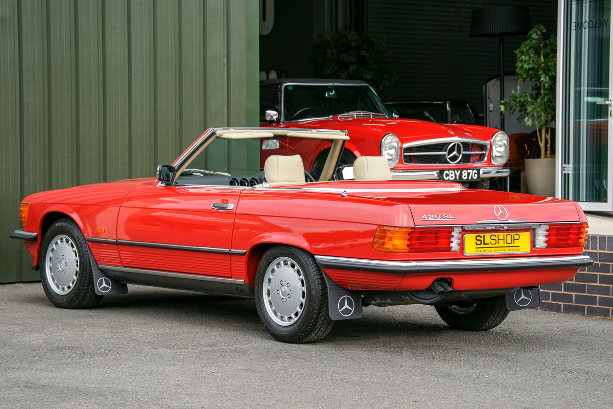 1989 Mercedes-Benz 420SL (R107) #2105 Just 1,500 Miles For Sale (picture 2 of 6)