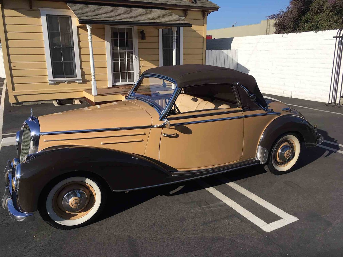 1954 Mercedes 220 A Cabriolet Convertible Tan(~)Tan $97.5k For Sale (picture 1 of 5)