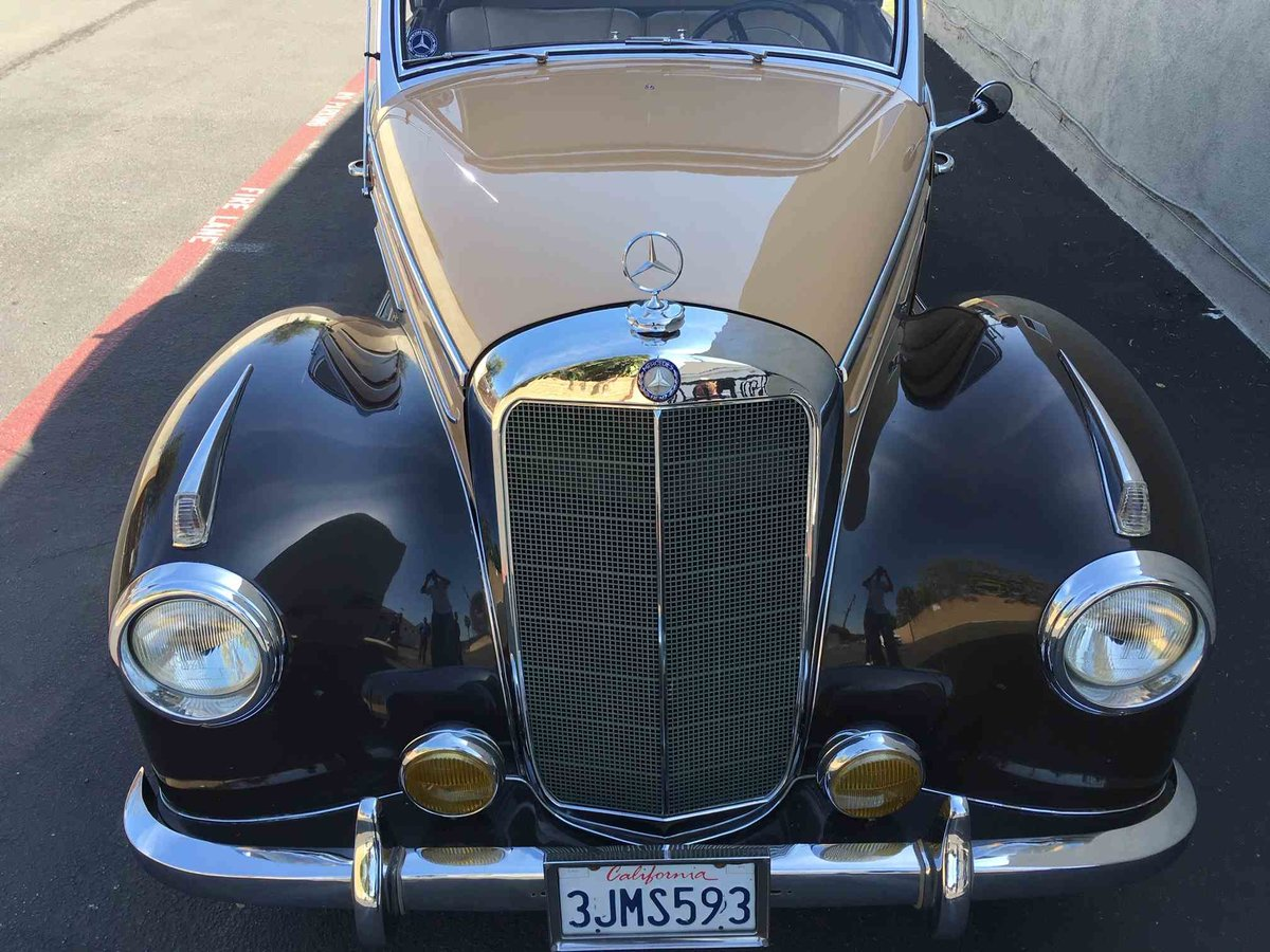 1954 Mercedes 220 A Cabriolet Convertible Tan(~)Tan $97.5k For Sale (picture 2 of 5)