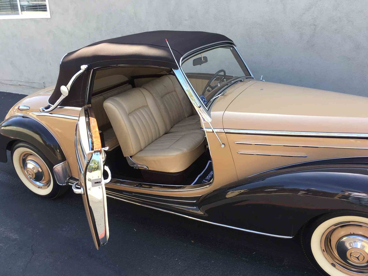 1954 Mercedes 220 A Cabriolet Convertible Tan(~)Tan $97.5k For Sale (picture 3 of 5)