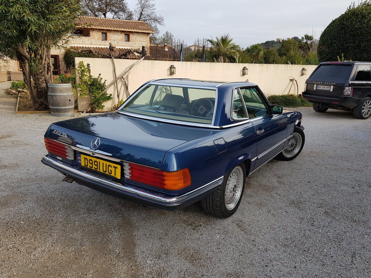 REDUCED 420SL Mercedes (R107) 1988 low miles (LHD) For Sale (picture 1 of 6)