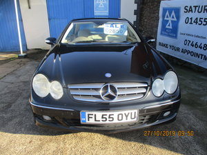 2055 MERCEDES BENZ 280 CLK IN BLACK WITH LOVELY LEATHER TRIM TRIM
