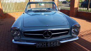 1967 250sl Auto 2 tops Rare Horizon blue  For Sale