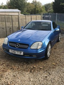 2001 Mercedes SLK 200 blue, convertible hard top