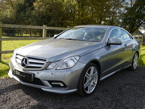 2011 MERCEDES E350 CDI 265 AMG SPORT COUPE 1 OWNER FSH SOLD