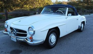 1960 Mercedes 190SL Convertible Roadster Solid Ivory $86.5k