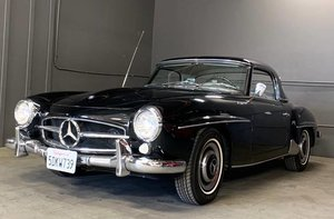 1960  Mercedes 190 SL Convertible 2 Tops Black(~)Ivory $87.5k