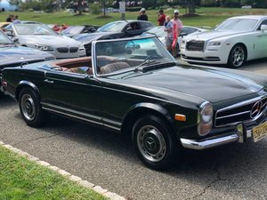 1969 Mercedes 280SL Pagoda Go Green(~)Tan Auto 2 Tops $56k