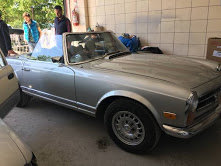 1968 Mercedes 280 SL Pagoda Restored Silver Manual $77k