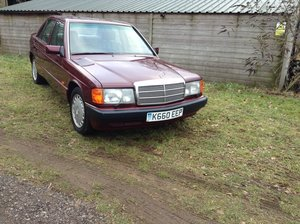 1992 Mercedes190e 2.6 low mileage  all paperwork