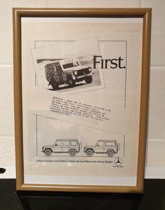 Original Mercedes G-Series Framed Advert