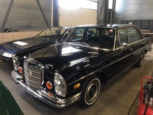 1968 Mercedes Benz 280SEL black plate car