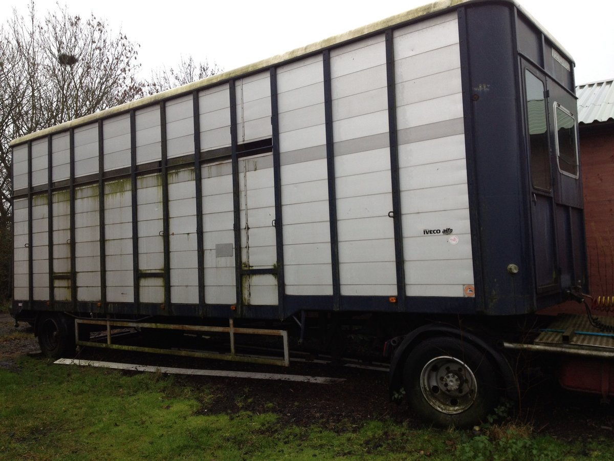 1983 Mercedes 813 Horse box trailer and unit For Sale (picture 2 of 3)