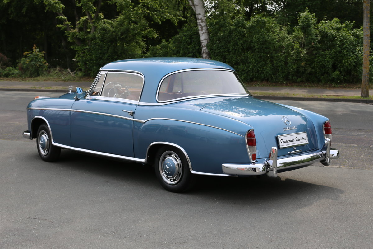 """1958  Mercedes 220 SE Coupe W128 """"Ponton"""" with rare sunroof SOLD (picture 5 of 6)"""