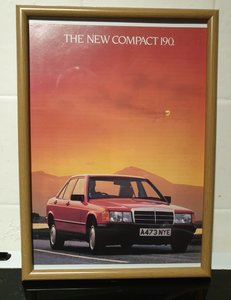 1983 Merc 190 Framed Advert Original