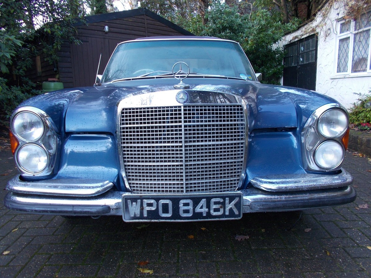 1972 MERCEDES 280SE W108 3.5ltr V8 AUTOMATIC RHD For Sale (picture 1 of 6)
