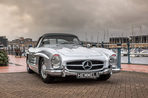 1957 Mercedes-Benz 300 SL Roadster in Silver by Hemmels