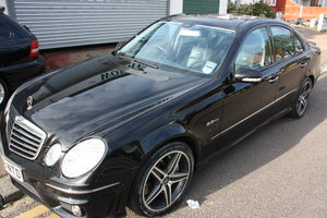 2008 MERCEDES  AMG E63 W211 RARE BLACK LOW MILEAGE FMBSH SOLD
