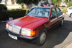 1988 Mercedes 190E 2lt in fantastic origional condition For Sale
