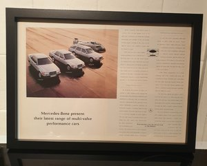 Original Mercedes 300 Framed Advert