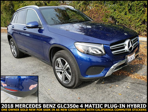 2018 Mercedes G-Class GLC 350e AWD PLUG-IN Hybrid $43.3k