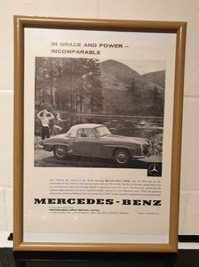 1961 Mercedes 190SL Framed Advert Original