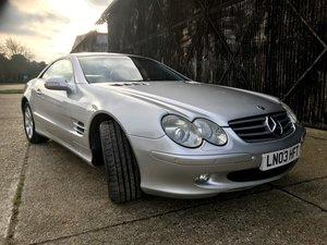 2003 Mercedes SL500 Auto, Low Mileage FSH....