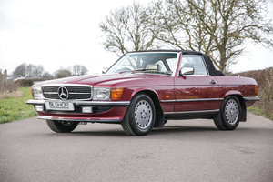 1988 Mercedes-Benz 300SL (R107) Almandine Red #2163 For Sale
