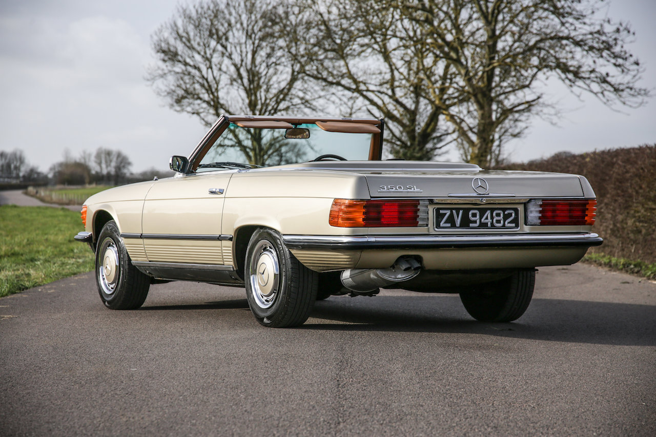 1972 Mercedes-Benz 350SL V8 (R107) #2193 Early No Headrest Model For Sale (picture 2 of 6)