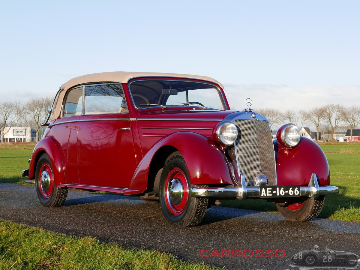 1950 Mercedes Benz 170 S Convertible B in a nice used condition For Sale (picture 1 of 6)