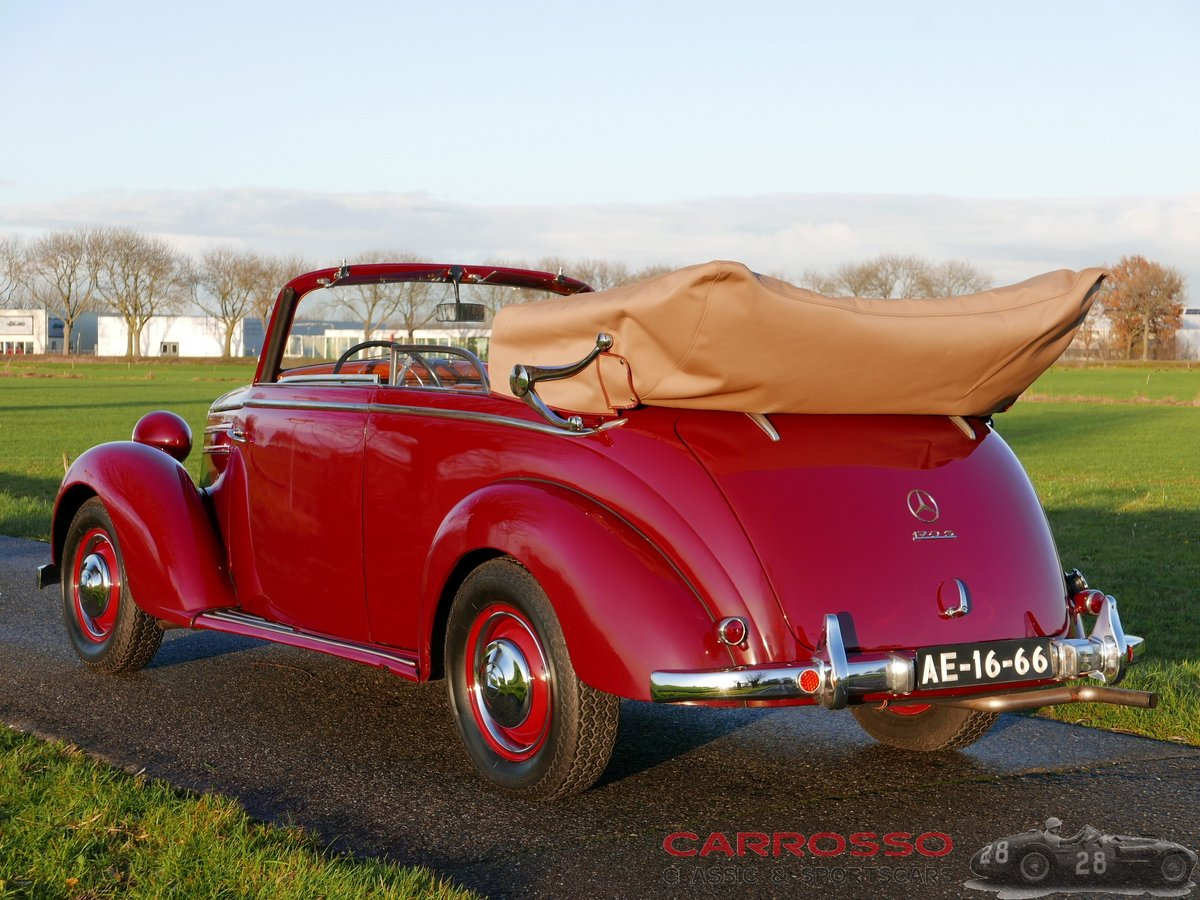 1950 Mercedes Benz 170 S Convertible B in a nice used condition For Sale (picture 2 of 6)