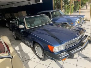 1987 Mercedes 560 SL Roadster only 31.9k miles Navy $49.5k For Sale