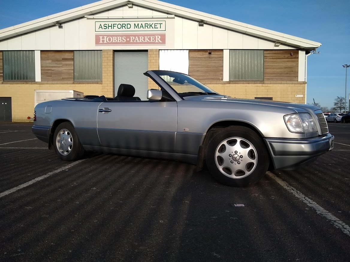 1997  Mercedes E220 Cabriolet 48,000 miles AUCTION 16TH/17TH JULY For Sale by Auction (picture 1 of 6)