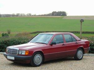 1993 Left Hand Drive.. Mercedes 190E Manual.. FMBH.. 1 Owner.. For Sale