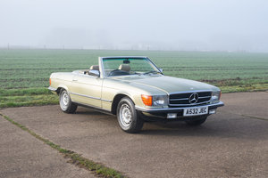 1984 Mercedes R107 380SL - 89k Miles FSH - Thistle Green For Sale