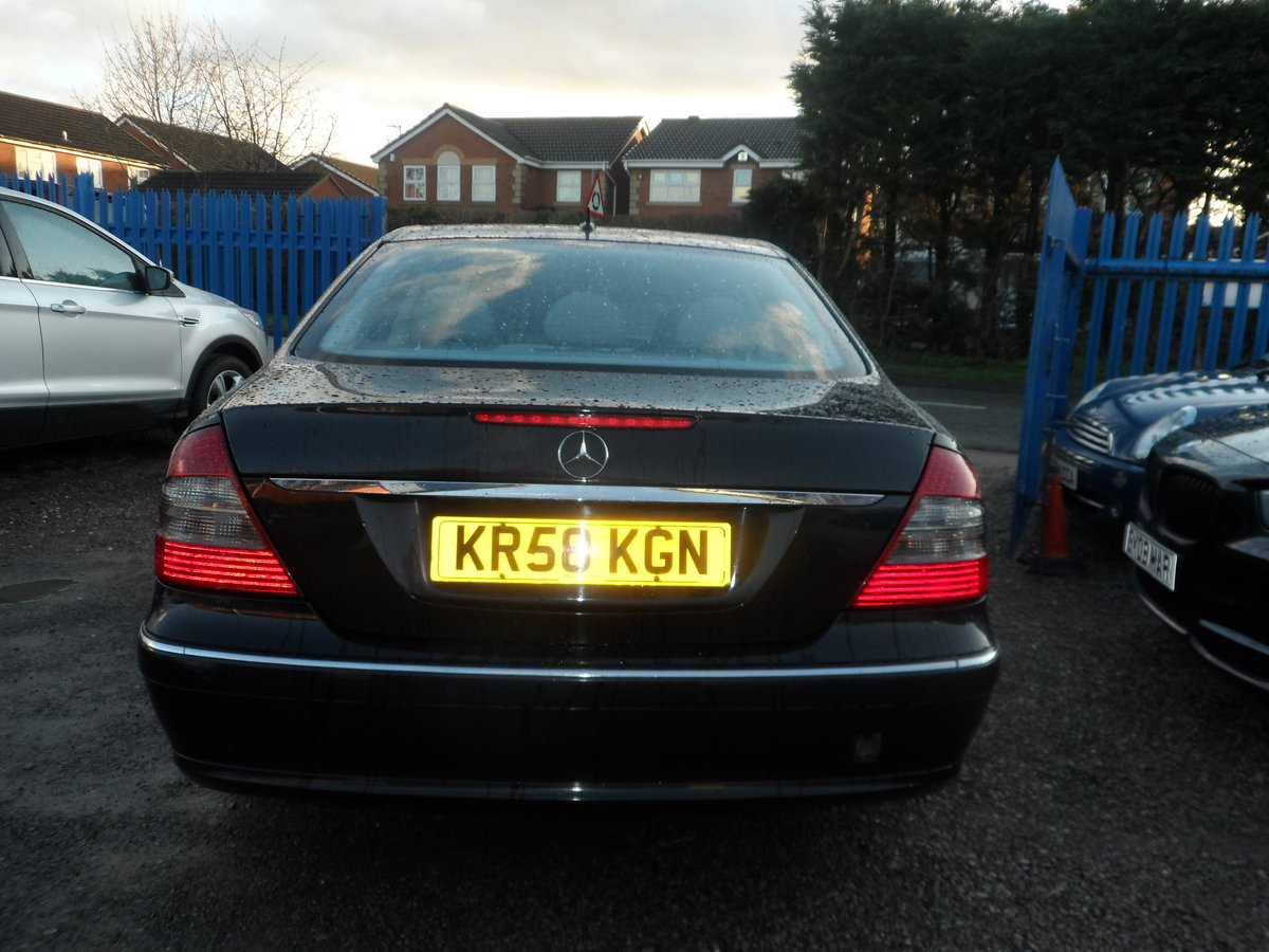 2008 58 PLATE MERCEDS BENZ E220 DIESEL AUTO BLACK WITH LEATHER For Sale (picture 6 of 6)