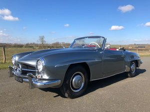 Picture of 1960 Mercedes 190SL Roadster LHD manual in Silver Grey Metal SOLD