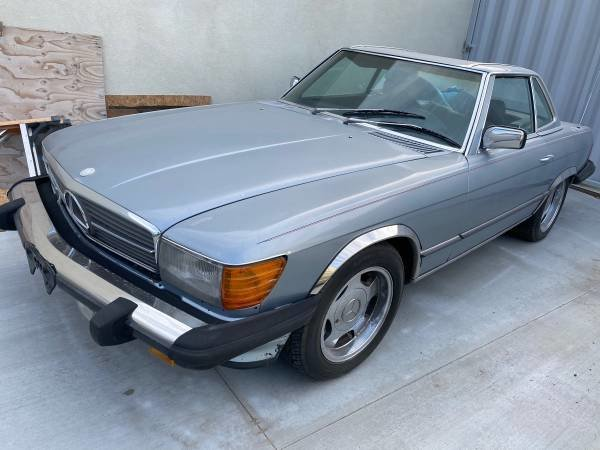 1984 Mercedes 380 sl driver clean Grey(~)Navy  $7.8k usd For Sale (picture 6 of 6)