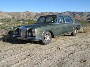 1971 Mercedes 300SEL 3.5 W108 Green dry solid driver $8.9k