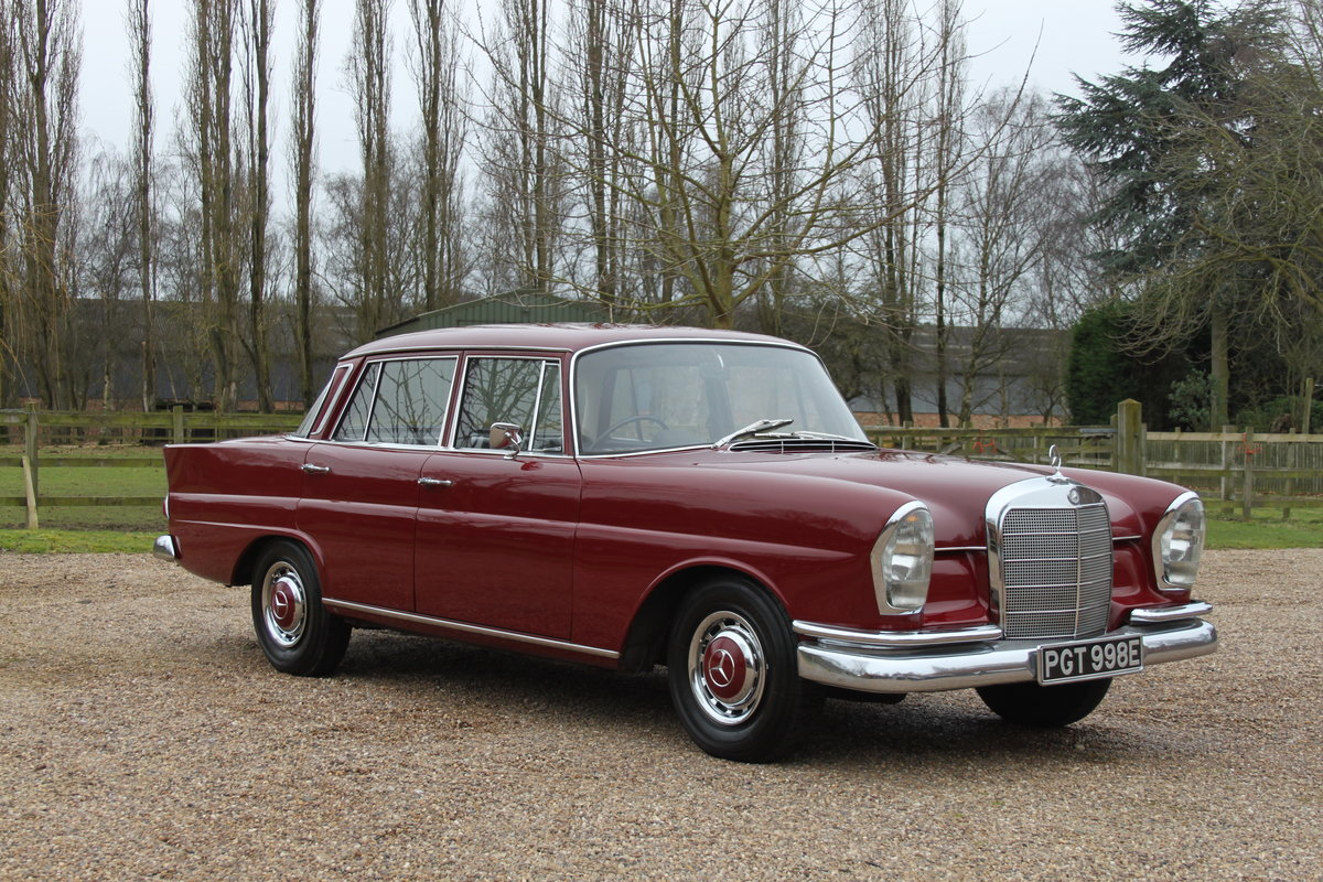 1965 Mercedes 220b W111 Fintail Saloon In Superb Condition Sold Car And Classic
