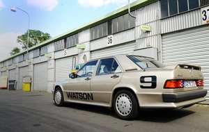 1984 Mercedes 190E 2.3 16V number 10 launched  car at Nuerburgrin
