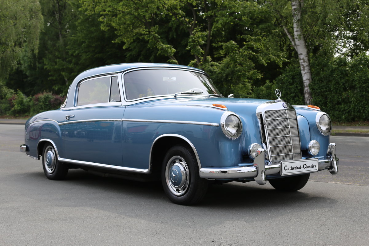 """1958  Mercedes 220 SE Coupe W128 """"Ponton"""" with rare sunroof SOLD (picture 1 of 6)"""