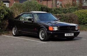 1988 Mercedes sec 126-series black coupe