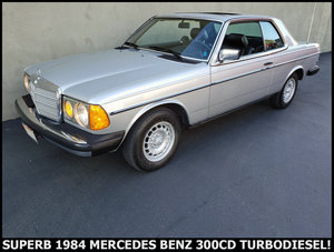 1984 Mercedes 300CD Coupe TURBODIESEL clean driver $10.9k