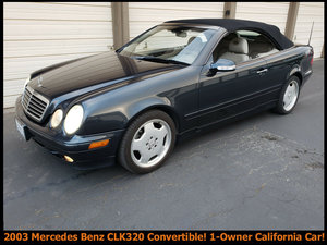 2003 Mercedes CLK320 Convertible Blue(~)Grey auto $4.9k