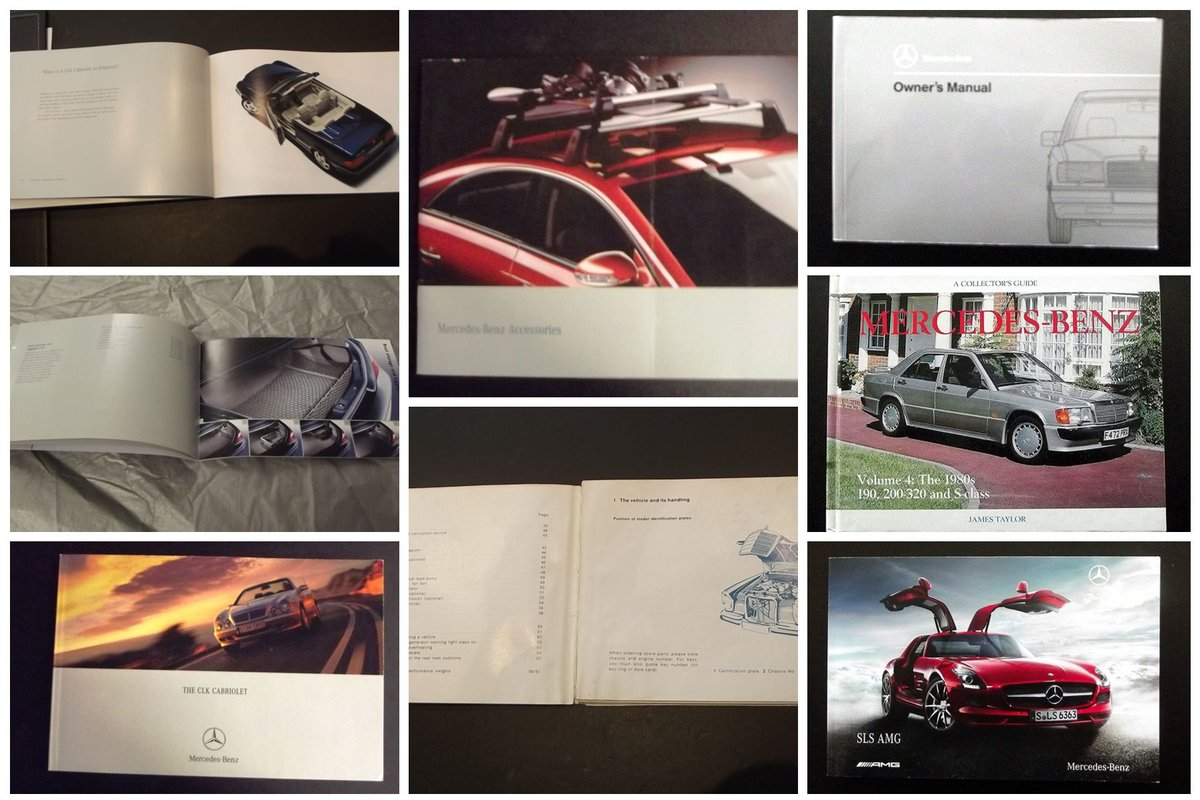 0000 MERCEDES VARIOUS MANUALS AND MEMORABILIA FOR SALE For Sale (picture 4 of 6)